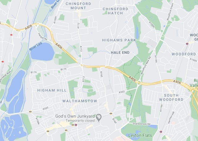Map of Walthamstow